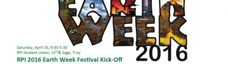 RPI 2016 Earth Week Kick-Off